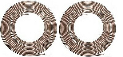 Copper Nickel Brake Line Tubing Kit 3/16 and 1/4 25 Ft Coil Rolls Made in USA