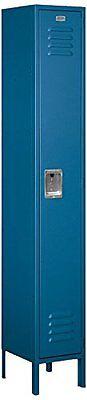 Salsbury Metal Locker Single Tier 1 Wide 5 High 15 Deep Blue 61155bl-u New