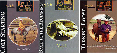 RAY HUNT 3 DVD set Colt Starting Horse Training riding Videos