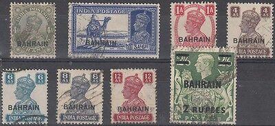 Bahrain Scott 9,27,41,48,49-51,60 Used (Catalog Value $99.60)
