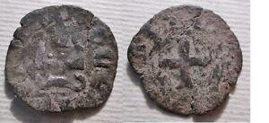 *Crusaders STATI CROCIATI Carlo II d'Angiò(1285-1289)Chiarenza:Denaro Tornese - Italy, Italia - *Crusaders STATI CROCIATI Carlo II d'Angiò(1285-1289)Chiarenza:Denaro Tornese - Italy, Italia
