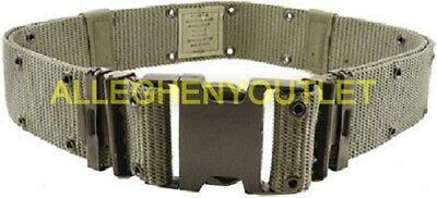 Black Utility Belt (PISTOL BELT US Military Q/R Web Utility Belt USMC BLACK BUCKLE Large VGC /)