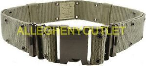 USGI Individual Equipment Pistol Web Belt LC2 OD Green Large US Military GOOD
