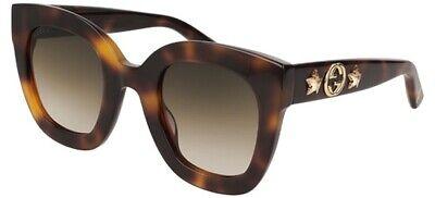 d9f8c9e7a8ad1 NEW Gucci GG 0208S Sunglasses 003 Avana 100% AUTHENTIC