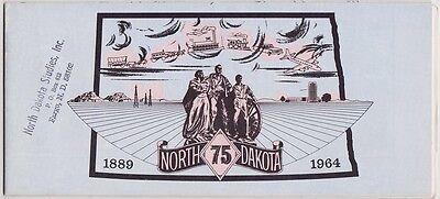 1964 North Dakota Historic Maps Brochure