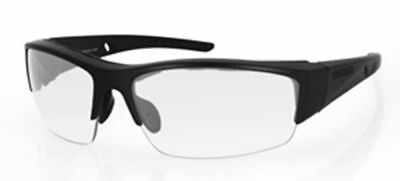 Bobster Ryval 2 Safety Glasses with Matte Black Frame and Clear Anti-Fog (Glasses With Plastic Frames And Clear Lenses)