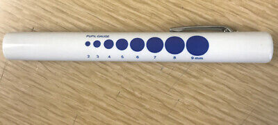 Disposable Led Medical Pen Light First Aid Emtent With Pupil Gauge Wbatteries