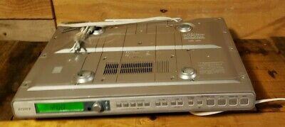 SONY ICF-CD553RM Under Cabinet CD Player Clock Radio Weather AM/FM No Remote