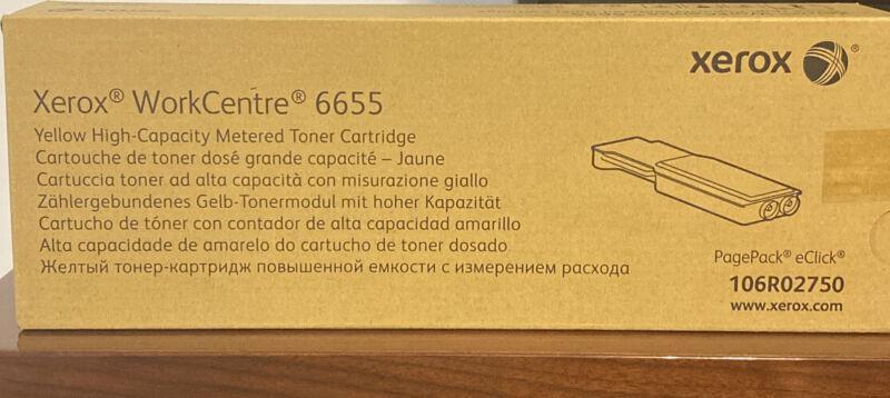 XEROX 106R02750 Yellow High Capacity GENUINE Toner WorkCentre 6655 NEW