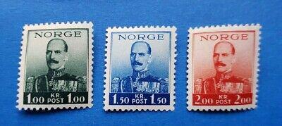 Norway Stamps, Scott 177-179 Short Set MNH