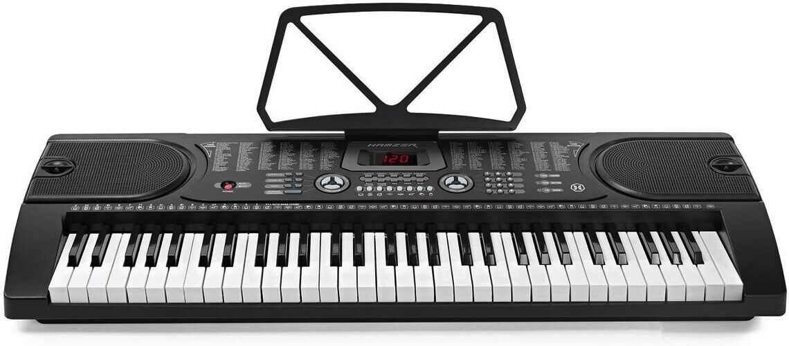 61 Key Portable Electronic Keyboard Piano w Stand, Headphone