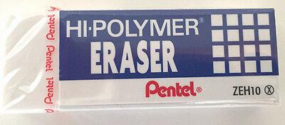 Pentel Hi-polymer Block Eraser White Zeh10 Back To School Fast Ship