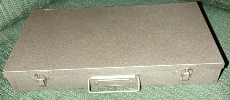 Vintage Brumberger Metal Storage Case Box, Holds 150 35mm Slides / Sleeved Coins