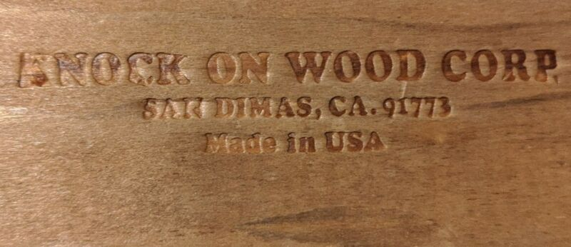 NAPKIN HOLDER Knock on Wood Corp 🇺🇸  California USA VINTAGE