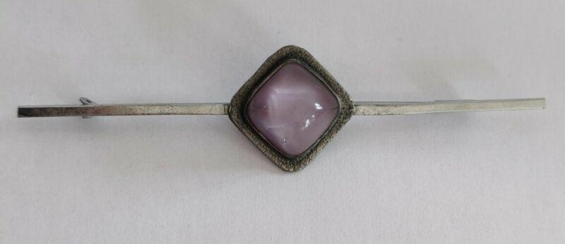 Arts and crafts movement glass cabochon brooch bar