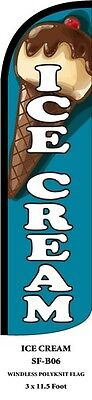 Ice Cream Feather Flags Banner Sign Same Day Ship