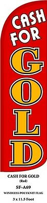 Cash For Gold Red Feather Flags Banner Sign Same Day Ship