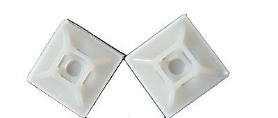 50 34 X 34 Cable Tie Mount White Nylon With Adhesive Backing Made In Usa