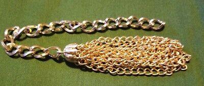 """Nice 4"""" Brass Chain Tassel"""