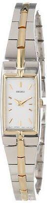 Seiko SZZC40 Women's Dress White Dial Stainless Steel Two-Tone Quartz Watch