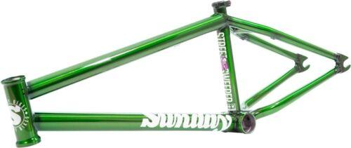 """SUNDAY BIKES STREET SWEEPER 20.5 TRANS SLIMER GREEN BMX BIKE FRAME 20.5"""" S&M"""