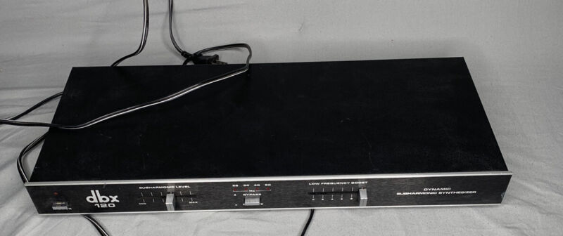 DBX 120 DYNAMIC SUBHARMONIC SYNTHESIZER LOW END BASS Great Condition sh