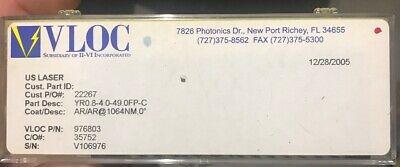 Vloc Ndyag Laser Rod Yr0.8-4.0-49.0fp-c Arar 1064nm New In Box