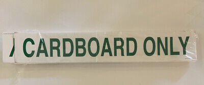 Cardboard only stickers (50) NEW white