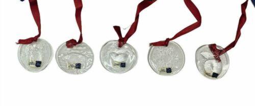 1986 NUUTAJARVI Arabia Finland FINN CRYSTAL Ornaments & Original Box Lot Of 5
