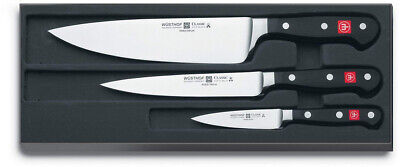 "Wusthof 3.5"" Pairing, 6"" Utility and 8"" Cook's Knife - 3 Segment Knife Set W9608"
