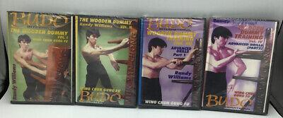 4 DVD Set Randy Williams Wing Chun Wooden Dummy Chinese Kung Gung Fu Training