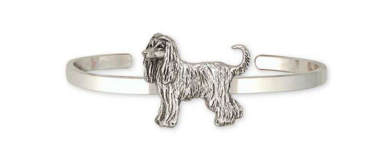 Afghan Hound Bracelet Jewelry Sterling Silver Handmade Dog Bracelet AF1-CB