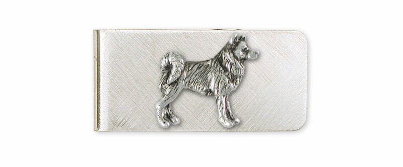 Alaskan Malamute Money Clip Jewelry Sterling Silver Handmade Dog Money Clip MAL2