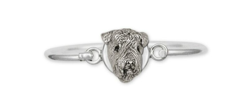 Soft Coated Wheaten Bracelet Jewelry Sterling Silver Handmade Dog Bracelet SC3-H