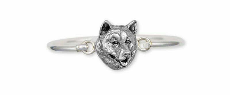 Alaskan Malamute Bracelet Jewelry Sterling Silver Handmade Dog Bracelet MAL1-HB