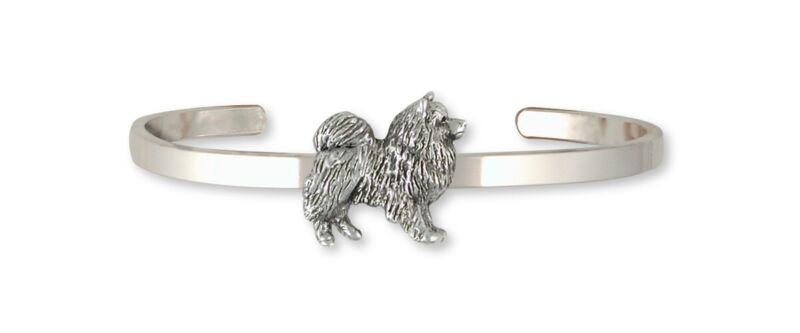 Keeshond Bracelet Jewelry Sterling Silver Keeshond Dog Bracelet KH1-CB