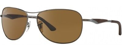 Ray-Ban RB3519 Polarized Sunglasses (Gunmetal Gray/Polarized Brown Classic B-15)