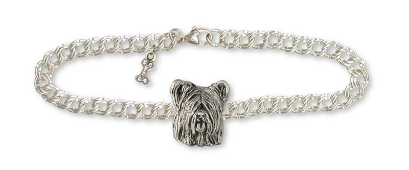 Skye Terrier Bracelet Jewelry Sterling Silver Handmade Dog Bracelet SKY4-B