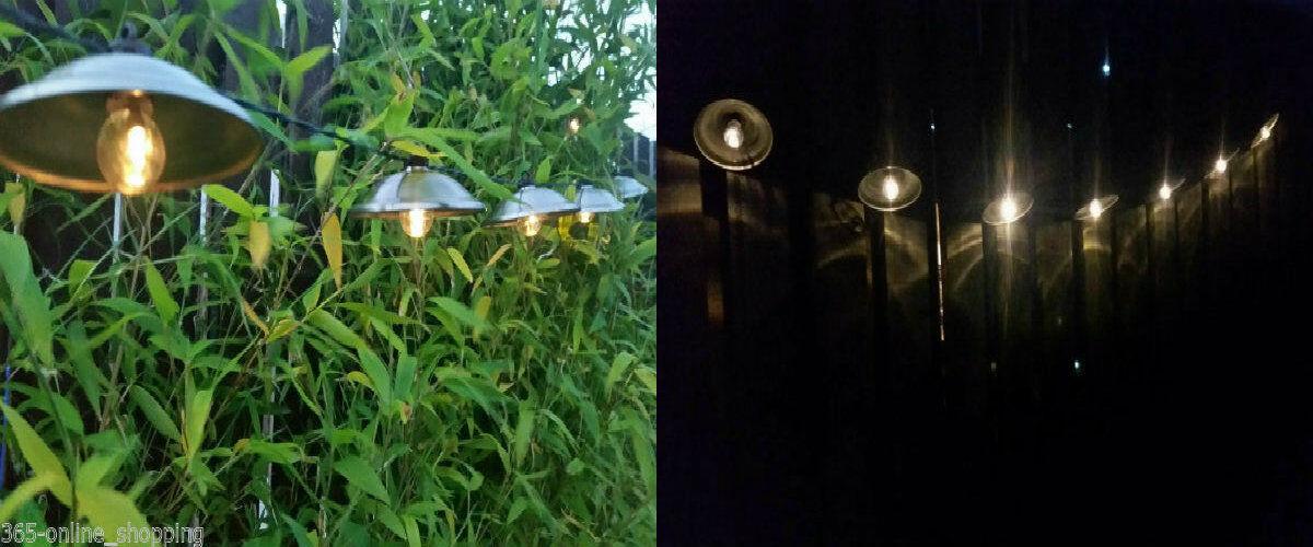 10x solar powered vintage retro metal hanging lantern garden patio string lights ebay. Black Bedroom Furniture Sets. Home Design Ideas