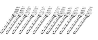 """Set of 12 Stainless Steel 18/8 Milan European Dinner Fork 8-1/4"""" Bon Chef S3806"""