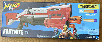 "NERF E6159 TS-1 Fortnite Mega Pump Blaster ""Open Box """