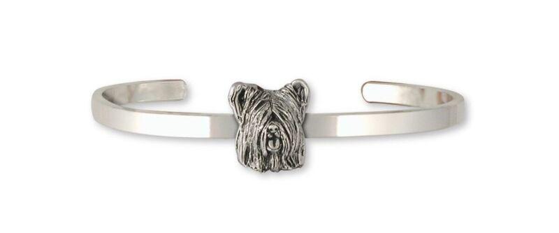 Skye Terrier Bracelet Jewelry Sterling Silver Handmade Dog Bracelet SKY4-CB