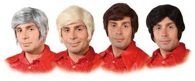 rücke Seitenscheitel Koteletten zu Karneval Kostüm  (70er Jahre Herren Perücke)