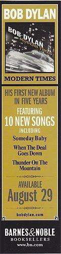 Bob Dylan Modern Times RARE promo bookmarks + download card