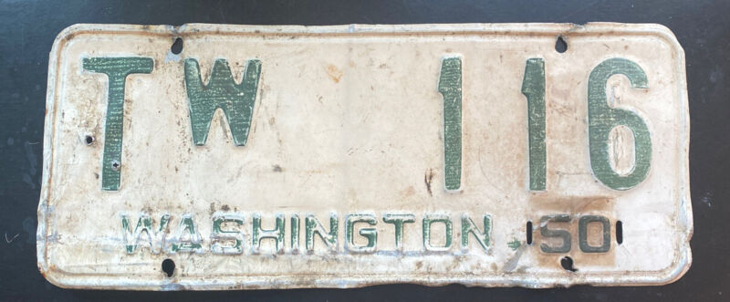 Hard To Get Low # Washington 1950-53 Stevens County Truck License Plate Single