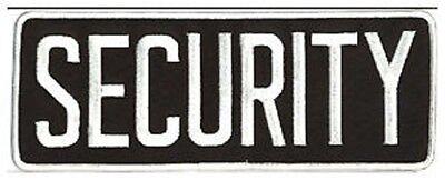 Large Security Back Patch Badge Emblem 11x4 Whiteblack