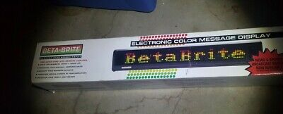 Adaptive Micro Sys Beta Brite Electronic Led Color Message Display Used In Box