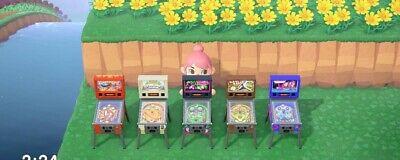 Animal Crossing New Horizons Pinball machines complete set