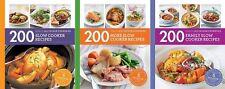 Slow Cooker, More Slow Cooker & Family Slow Cooker (3 x Hamlyn 200 Recipe Books)