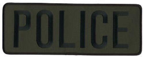 Large Police Back Patch Badge Emblem 11X4 Blk/olive